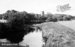 The Church And River c.1960, Hampsthwaite