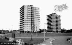 Handforth, Skyscraper Flats c.1965