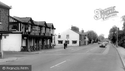 Handforth, The Greyhound Inn And Wilmslow Road c.1965