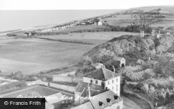 Happisburgh, Aerial View, Seafront c.1960