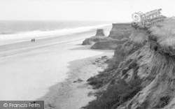 Happisburgh, Beach And Cliffs c.1955