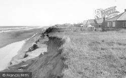 Happisburgh, Seaside Bungalows c.1955