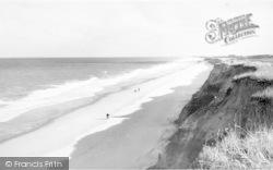 Happisburgh, The Beach And Cliffs c.1955