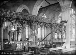 Harberton, Church Screen 1890