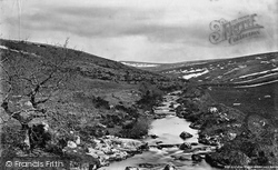 The Moor From Harford Bridge c.1876, Harford