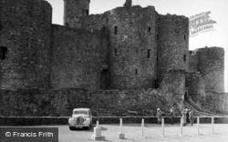Castle, From The Car Park 1952, Harlech
