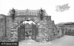 College, The Upper Gate c.1960, Harlech
