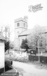 Harlow, St John's Parish Church, Old Harlow c.1955