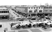 Harlow, Town Square and Broad Walk c1960
