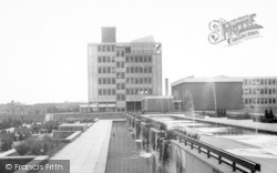 Harlow, Water Gardens And Technical College c.1960