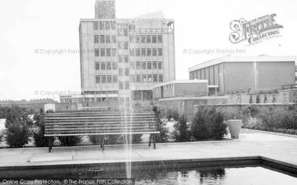 Photo of Harlow, Water Gardens And Technical College c.1965