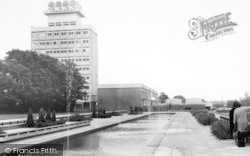 Harlow, Water Gardens And Town Hall c.1960