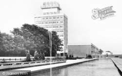 Harlow, Water Gardens And Town Hall c.1965