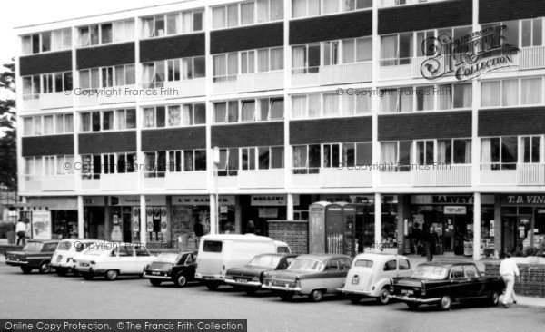 Photo of Harmans Water, Shops In The Square c.1965