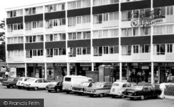 Shops In The Square c.1965, Harmans Water