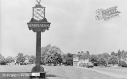 Harpenden, Town Sign c.1960