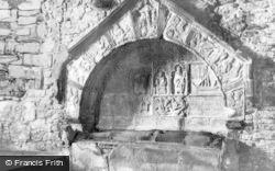 Rodel, St Clement's Church, Alasdair Crotach's Tomb c.1955, Harris