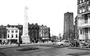 Harrogate, St Peter's Church And War Memorial c.1955