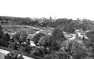 Harrogate, Valley Gardens And Royal Bath Hospital  1928