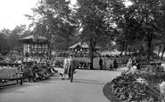 Harrogate, Valley Gardens, Bandstand And Tea House 1928