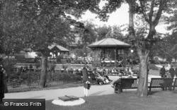 Valley Gardens, Bandstand And Tea House 1928, Harrogate