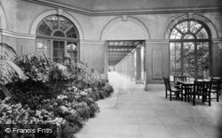 Harrogate, Valley Gardens Sun Parlour And Colonnade 1934