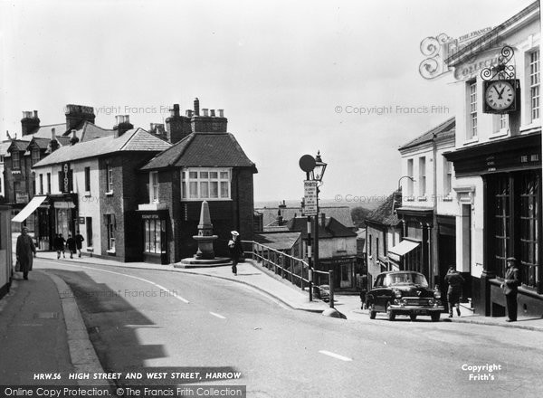 Photo Of Harrow On The Hill High Street And West Street
