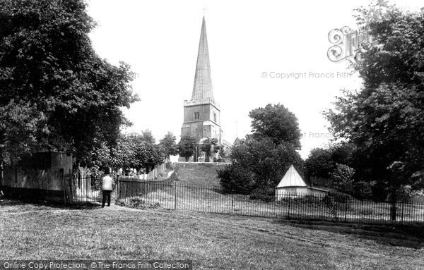 Photo Of Harrow On The Hill St Mary 39 S Church 1906