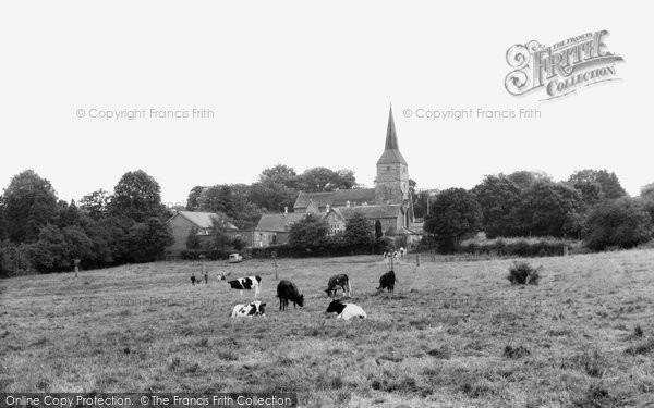 Photo of Hartfield, St Mary's Church From The Green c.1960