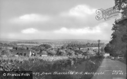 The Village From The Shacketts Hill c.1955, Hartfield