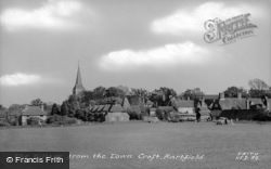 The Village From The Town Croft c.1955, Hartfield