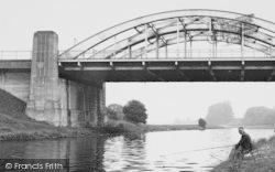 Hartford, Fishing At Hartford Bridge c.1955