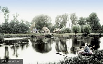 Hartford, River Ouse and Anchor Inn 1907