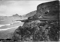 Hartland, Cliffs, Dame Hole 1920