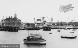 Hartlepool, Dock Master's Office From Harbour c.1960