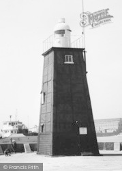 Hartlepool, Lighthouse At The Harbour c.1965
