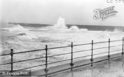 Hartlepool, Rough Sea c.1950