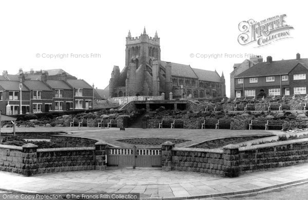 Photo of Hartlepool, St Hilda's Church And Gardens c.1965