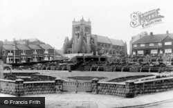 Hartlepool, The Church And Gardens c.1955