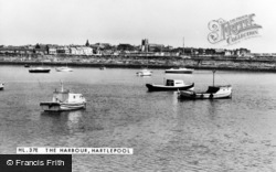 Hartlepool, The Harbour c.1955