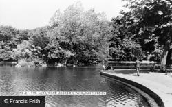 Hartlepool, The Lake, Ward Jackson Park c.1955