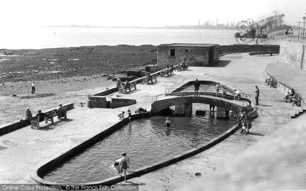 Photo of Hartlepool, The Paddling Pool c.1955