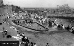 Hartlepool, The Paddling Pool c.1960