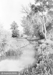 Hartley Wintney, The River Hart c.1955