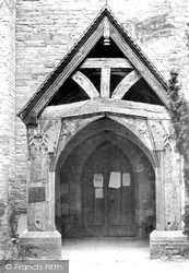 Hartpury, St Mary's Church, Ancient Porch 1906