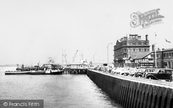 Harwich, The Harbour And Jetty c.1960