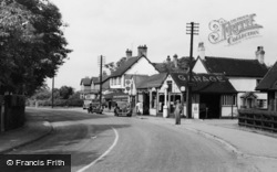Haslington, High Street, Garage c.1955