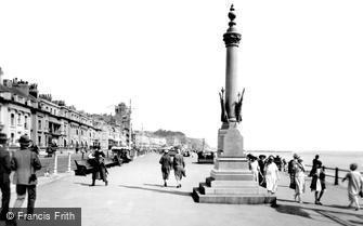 Hastings, Boer War Memorial, the Promenade 1925
