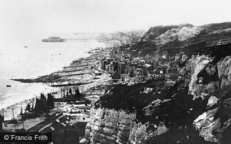 Hastings, from East Cliff 1891
