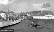 Hastings, the Boating Lake c1955